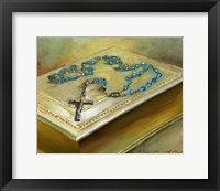 Framed Bible with Cross