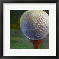Framed Golf ball