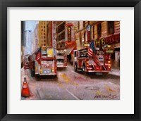 Framed Fire Department New York, 42nd Street NYC
