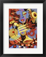 Framed Jazz Player