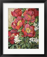 Framed Red Peonies