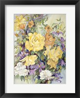 Framed Roses With Purple Clematis