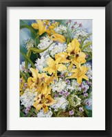 Framed Wild Flowers And Daylilies