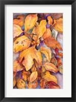 Framed Sassafras Leaves