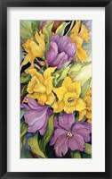 Framed Tulips And Daffodils