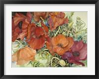 Framed Orange Poppies