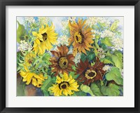 Framed Queen Anne Lace & Sunflowers