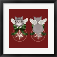 Framed Happy Holidays Cat Back