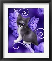 Framed Amethyst Cat