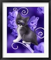 Framed Amethyst Cat