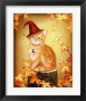Framed Autumn Cat Magic