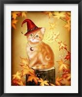 Framed Autumn Cat Magic