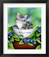 Framed Blueberry Kitten