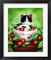 Framed Cherry Kitten