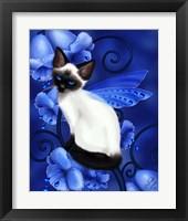 Framed Sapphire Cat