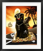 Shiver Meow Timbers Framed Print