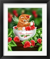 Framed Strawberry Kitten