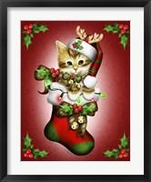 Reindeer Stocking Framed Print