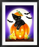 Framed Halloween Kitty