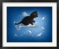 Key of Feathers Framed Print
