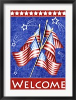 Welcome Stars And Stripes Framed Print
