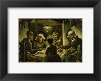 Framed Potato Eaters