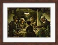 Framed Potato Eaters
