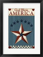 Framed God Bless America Star
