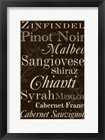 Framed Red Wine Typography