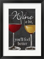 Framed Wine A Bit