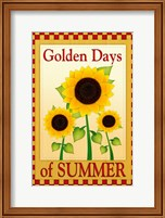 Framed Golden Days of Summer