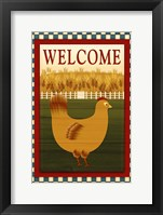 Framed Welcome Hen
