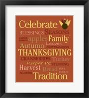 Framed Celebrate Thanksgiving