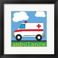 Ambulance Framed Print