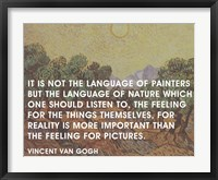 Framed Language of Painters - Van Gogh Quote