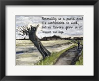 Framed Normality - Van Gogh Quote 1