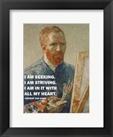 Framed Seeking -Van Gogh Quote