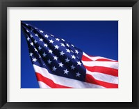 Framed American Flag Waving in the Wind