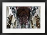 Framed Onze Lieve Vrouwekerk, Bruges, Belgium