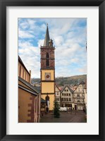 Framed Gothic Church Tower