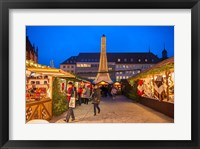 Framed Christmas Market at Twilight, Germany