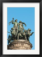 Framed Panther Quadriga Sculptur, Germany