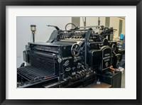 Framed Gutenberg Printing Press, Gutenberg Museum
