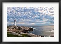 Framed Lighthouse in Peggys Cove, Nova Scotia
