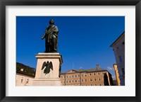 Framed Mozart Statue in Salzburg Austria
