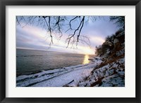 Framed Snowy Coastline, Jasmund National Park