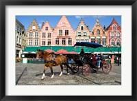 Framed Medieval Market Square, Belgium