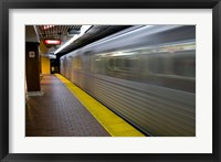 Framed Toronto Subway Train
