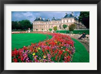 Framed Luxembourg Palace in Paris, France
