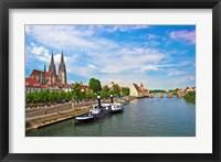 Framed Old Town Skyline, Regensburg, Germany